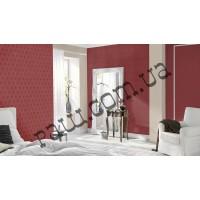Обои для стен бардового цвета в интерьере - фабрика Rasch артикулы 576207, 576306 и 576108 коллекция Cosmopolitan 2017